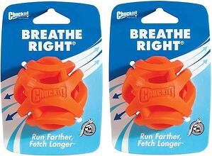 (2 Pack) Chuckit! Breathe Right Fetch Ball-1