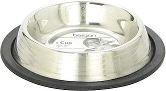 Bergan Stainless Steel Non-SkidNon-Tip Pet Bowl with Ridges
