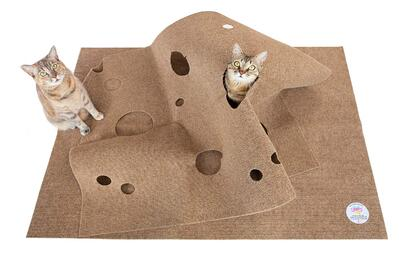 Cat Activity Play Mat - Thermally Insulated Base - Fun Interactive Play - Training - Scratching - Bed Mat