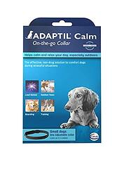 Dog travel anxiety calming collar Adaptil-on-the-go