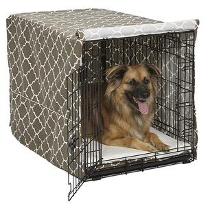 cover crate to help puppy sleep at night