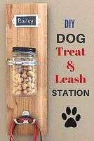 DIY dog treat mason jar on wall pinterest