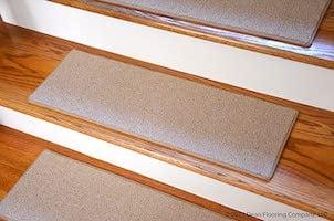 Dean non-slip tape free pet friendly diy carpet stair treads