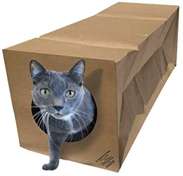 Dezi & Roo Hide and Sneak Collapsible Paper Tunnel Interactive Cat Toy