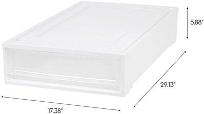 IRIS Under Bed Storage Box Chest Drawer