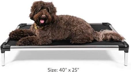 K9 Ballistics Chew Proof Elevated Dog Bed, Chew Resistant Indestructible Dog Cot