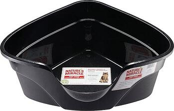 Natures Miracle Advanced High Sided Corner Litter Box