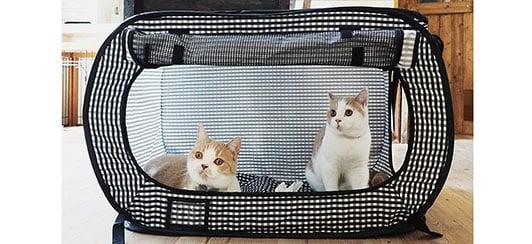 Necoichi Portable Stress Free Cat Cage-sm