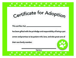 Preventive-Vet-Pet-Adoption-Certificate