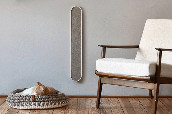 Upscale wall-mounted scratch pad