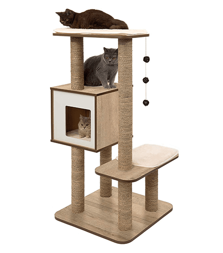 Cool cat condo and scratch pad