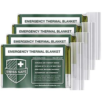 Swiss Safe Emergency Mylar Thermal Blankets