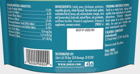 Zukes-puppy-naturals-food-label
