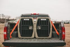 Dog crates and tie down straps