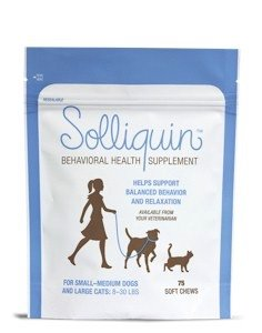 calming supplement for dogs and cats Solliquin