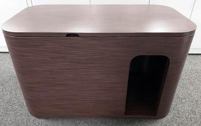 round edge cat litter box cabinet