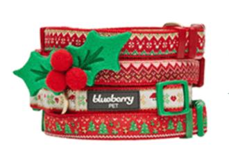 blueberry-pet-christmas-dog-collar