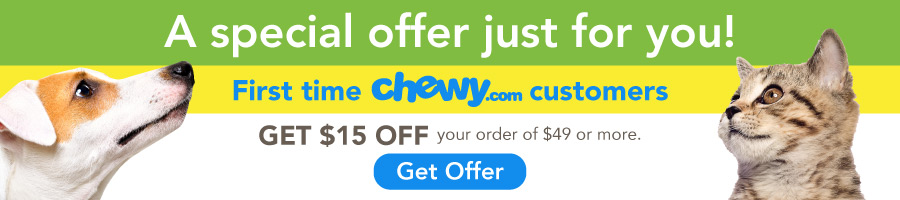 chewy $15 off for new customers