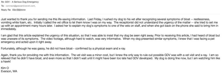 dog bloat gdv emergency email