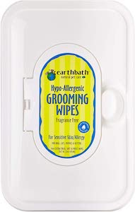 earthbath natural dog and cat grooming wipes