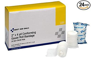 first aid only gauze roll bandages