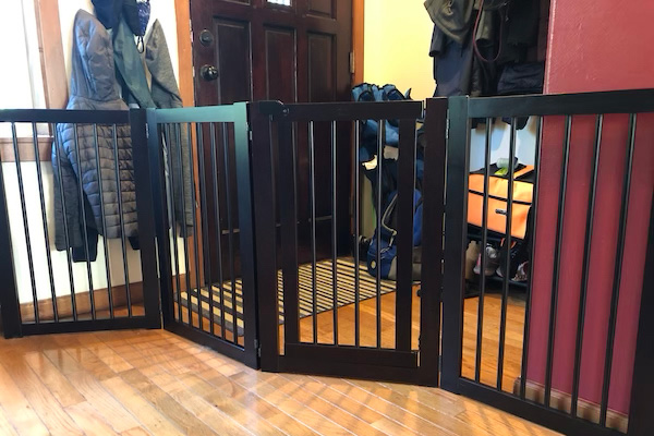 free standing gate at front door