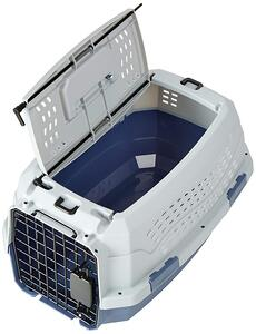 hard cat carrier top-loading pet kennel