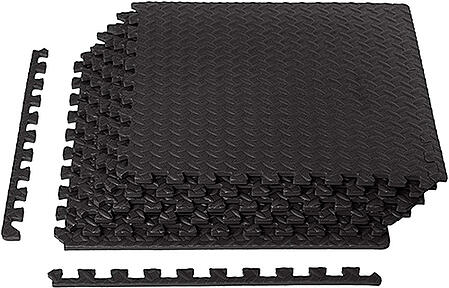 interlocking exercise mat with traction