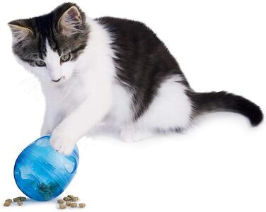 petsafe egg-cersizer interactive feeder and treat dispensing ball for cats