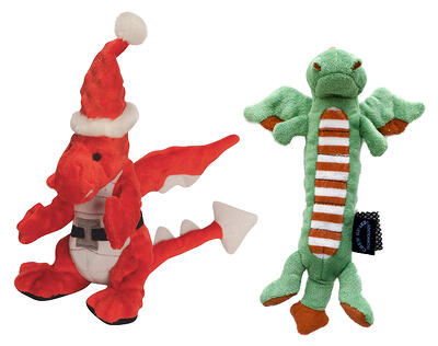 plush dog dragon toy good for chewers