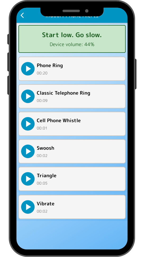 socialization app sounds start low go slow