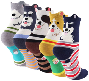 cute socks with dogs on them
