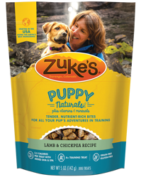 zukes puppy naturals lamb and chickpea dog treats