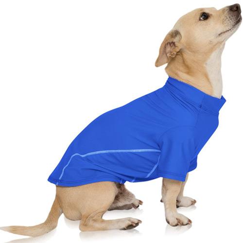 PlayaPup Dog Sun Protective Lightweight Solid Shirts, UPF 50 Plus