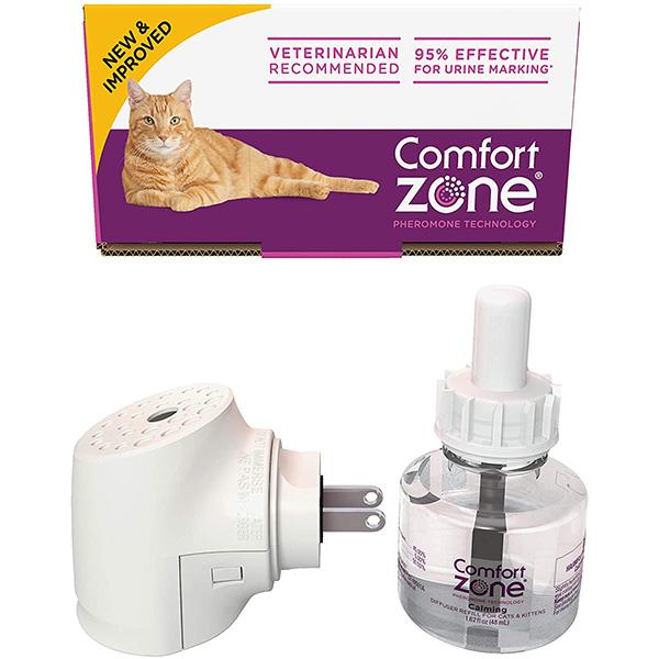 comfort zone cat  kitten calming pheromone diffuser