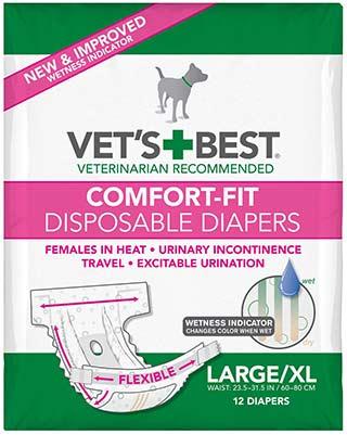 Vet's Best Comfort-Fit Disposable Diapers