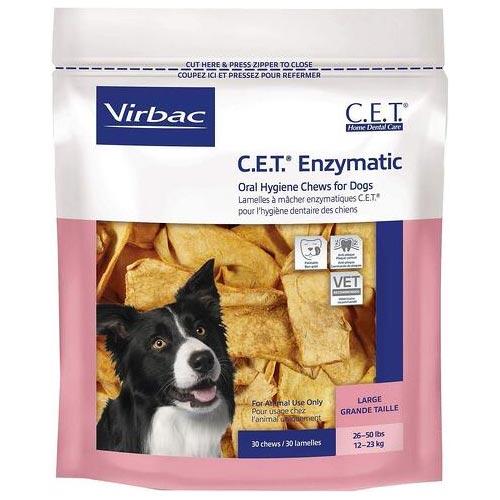 Virbac Enzymatic Oral Hygiene Chews for Large Dogs