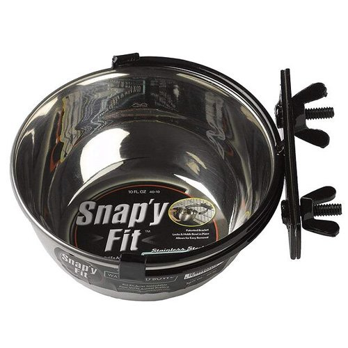 Midwest Snappy Fit Stainless Steel Crate Bowl