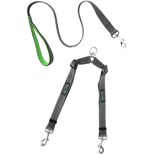 double dog leash from mighty paw