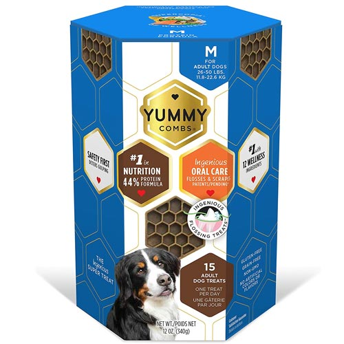 YUMMY COMBS Dental Dog Treats