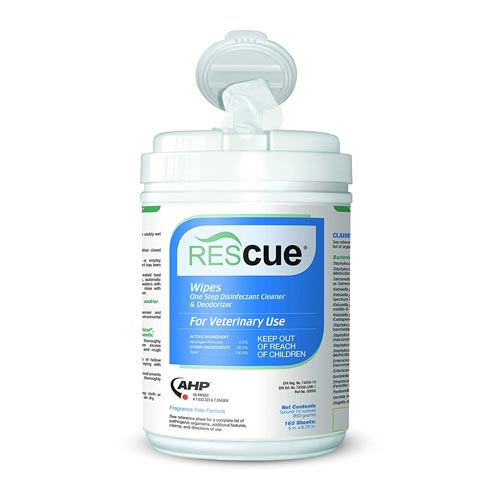 Rescue One Step Disinfectant Cleaner and Deodorizer Wipes