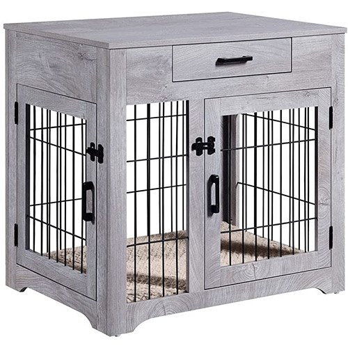 unipaws furniture dog crate end table