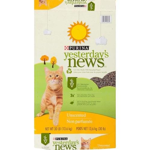 Yesterdays News Unscented Paper Cat Litter